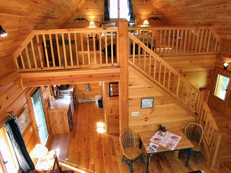 The deer crossing cabin - Interior pictures of small log cabins ...